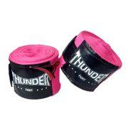 Par De Bandagem Atadura Elástica 3 Metros Muay Thai Boxe - Rosa - Thunder Fight