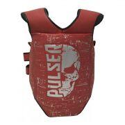 Protetor de Tórax Colete Super Reforçado Muay Thai / Boxe - Caveira Vermelho - Pulser