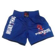 Shorts Bermuda Calção Treino Academia Top Muay Thai Azul Masculino - Progne 459e5512ac848