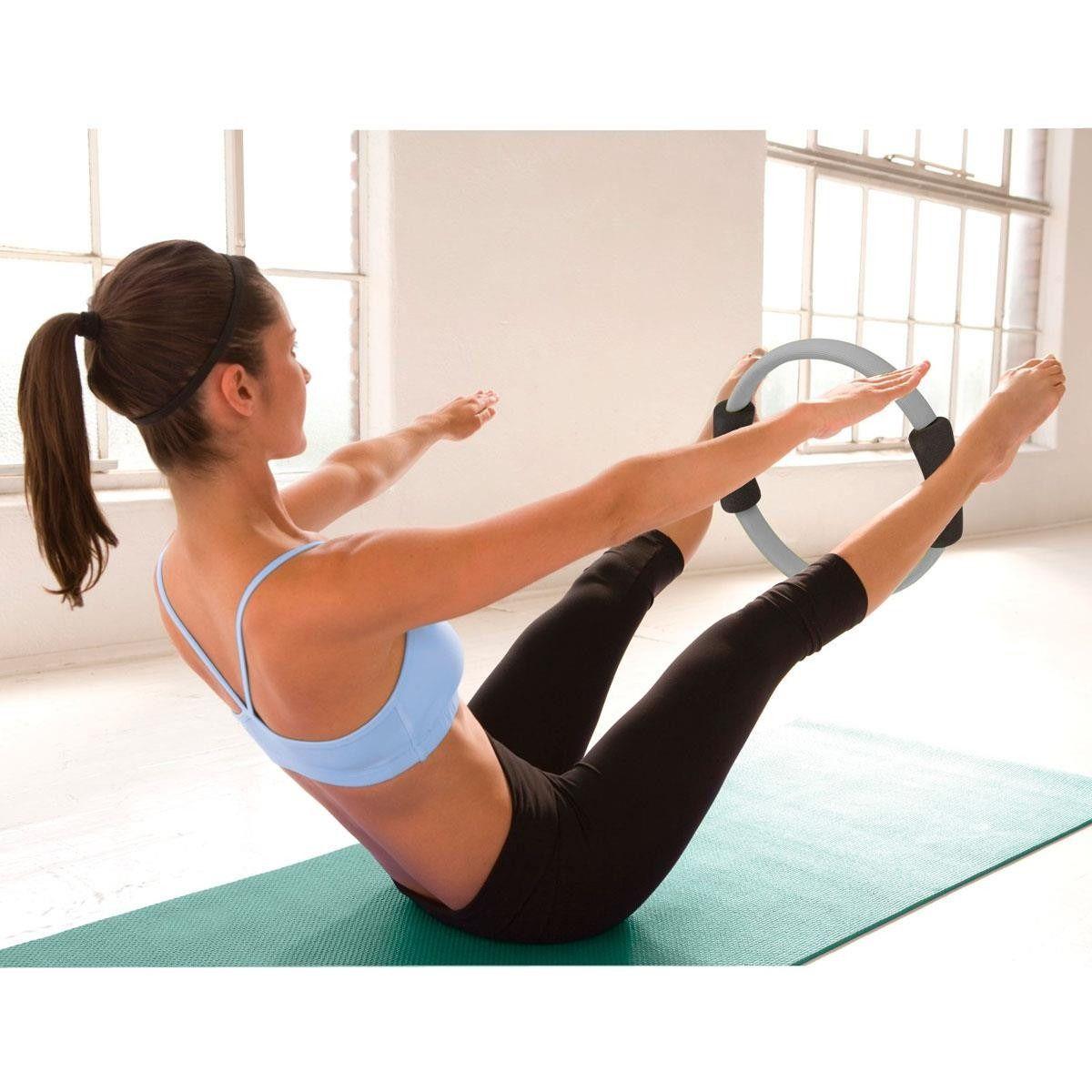 Arco Anel Flexível Para Pilates Circulo Mágico Flex Ring Cinza - LiveUp  - PRALUTA SHOP