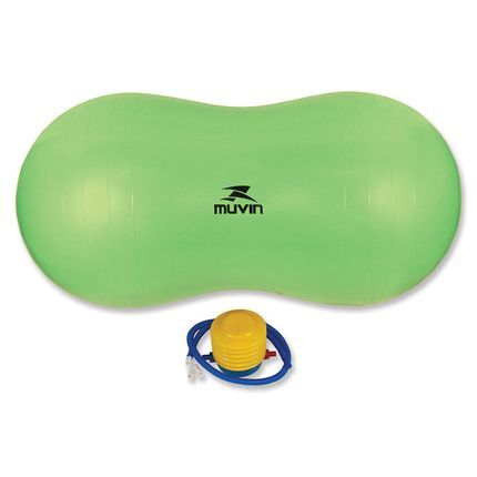 Bola Feijão Peanut Ball Fisioterapia Pilates C/ Bomba - Verde - Muvin  - PRALUTA SHOP