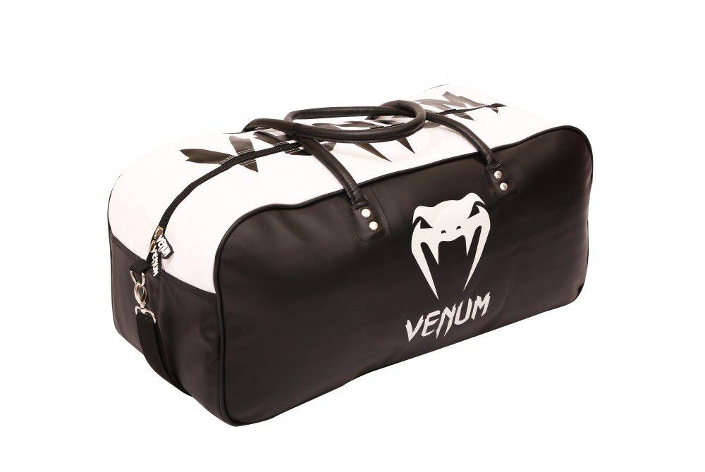 263380eb0 Bolsa Kimono Muay Thai Boxe Fitness Academia - Grande - Preto com Branco -  Venum ...