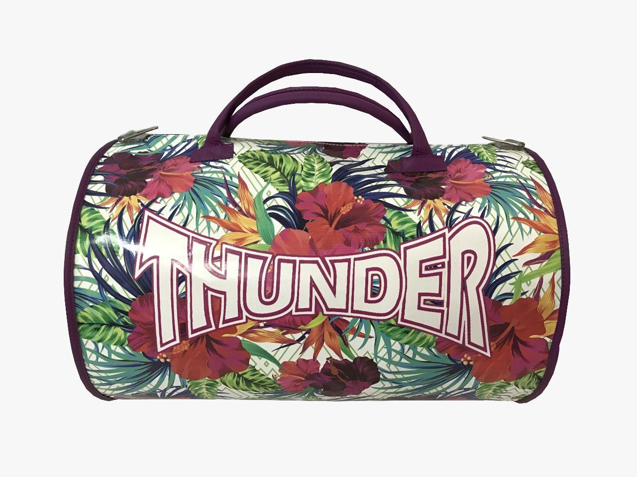 Bolsa Kimono Muay Thai Boxe Fitness Academia - Tropical Roxa - Thunder  - PRALUTA SHOP