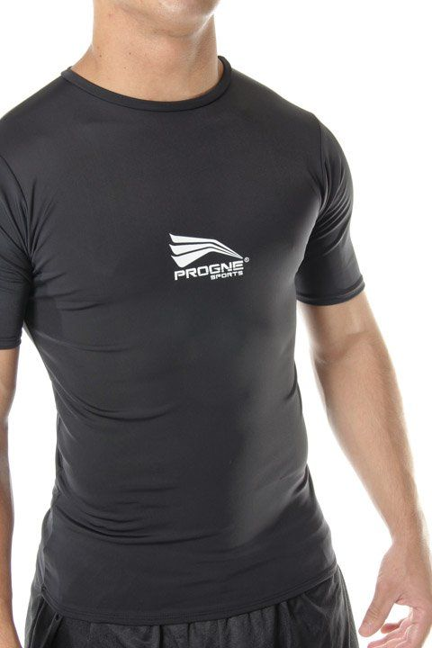 Camiseta Manga Curta Térmica Camisa Segunda Pele Proteção Uv50 Preto - Progne  - PRALUTA SHOP