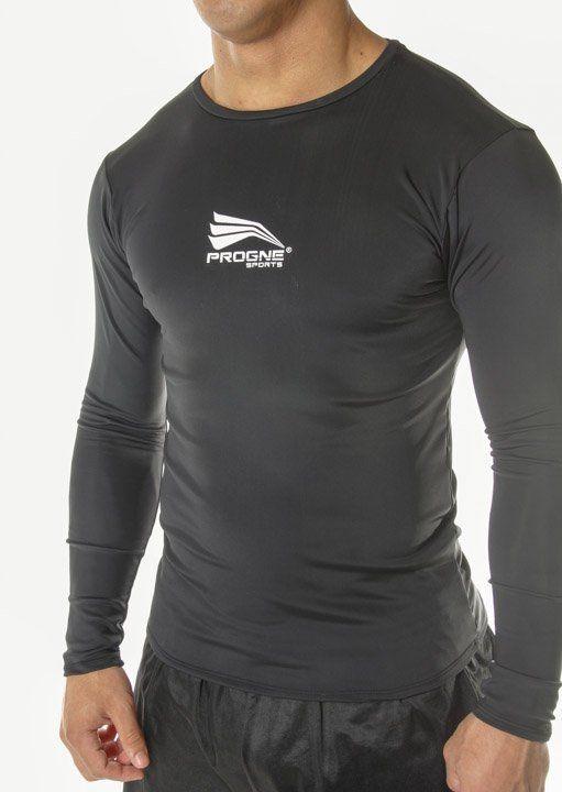 Camiseta Manga Longa Térmica Camisa Segunda Pele Proteção Uv50 Preto - Progne  - PRALUTA SHOP