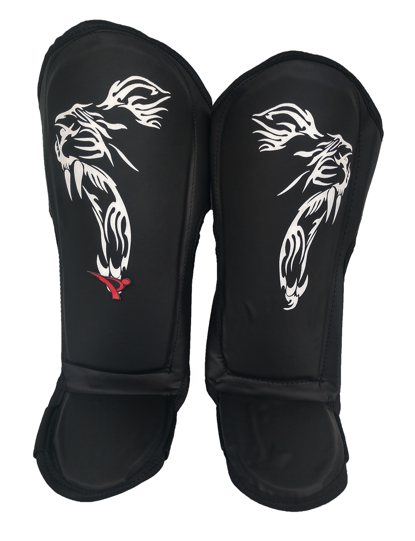 Caneleira Muay Thai Kickboxing Anatômica - Preto - MMA Brazuka  - PRALUTA SHOP