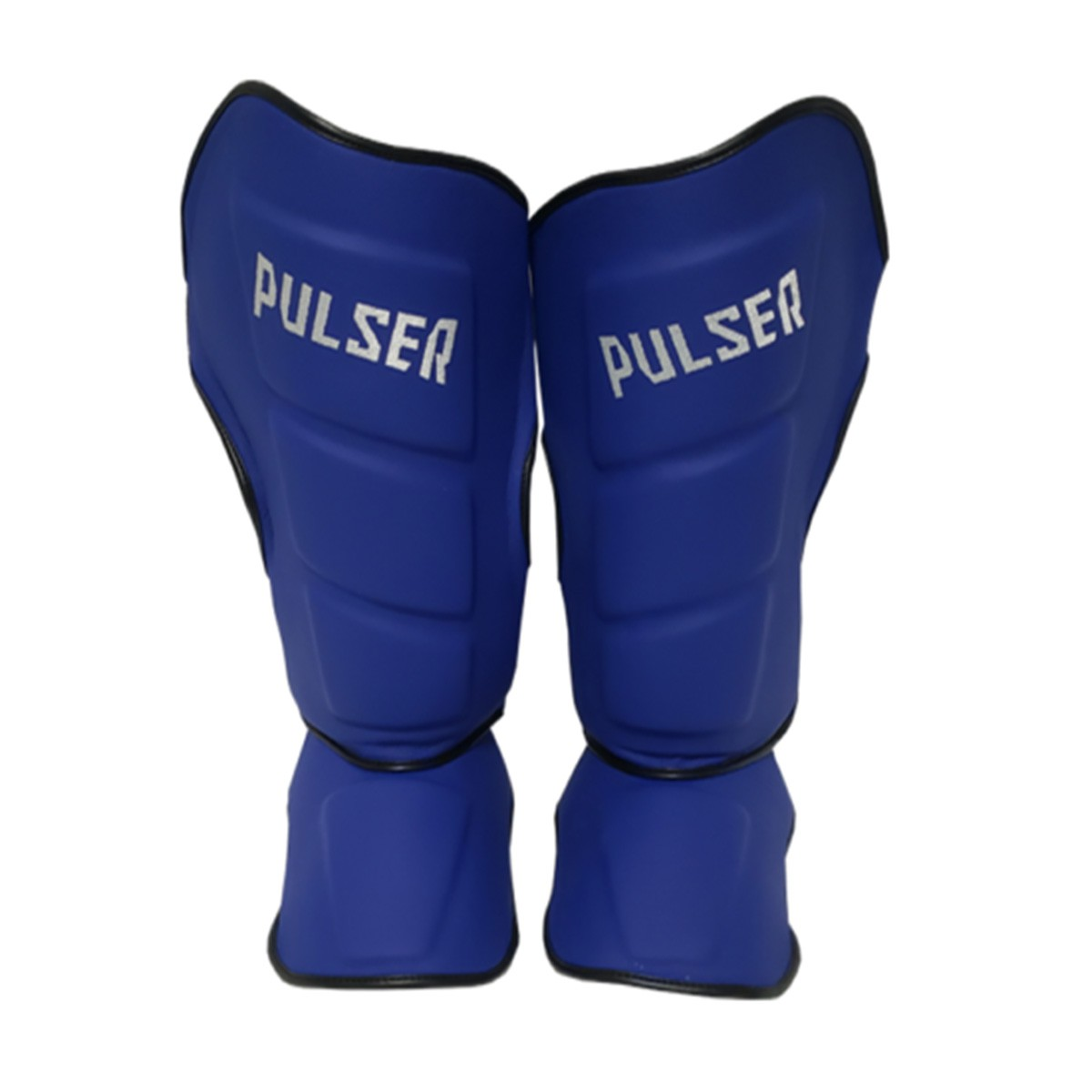 Caneleira Muay Thai MMA Azul Grande 40mm COURO - Pulser  - PRALUTA SHOP