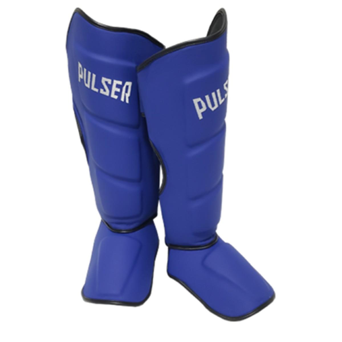 Caneleira Muay Thai MMA Azul Média 40mm COURO - Pulser  - PRALUTA SHOP