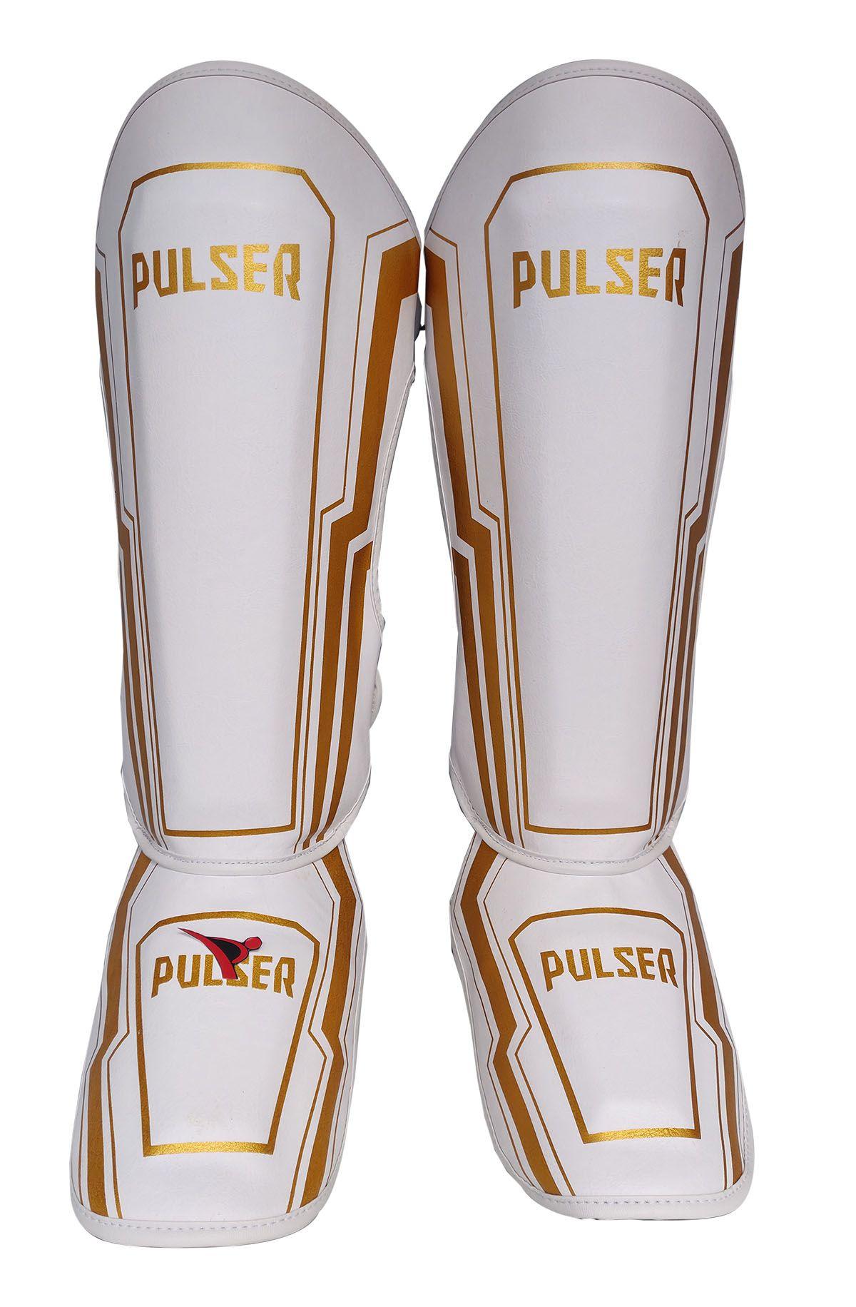 Caneleira Muay Thai MMA Branco Iron Média 30mm - Pulser  - PRALUTA SHOP