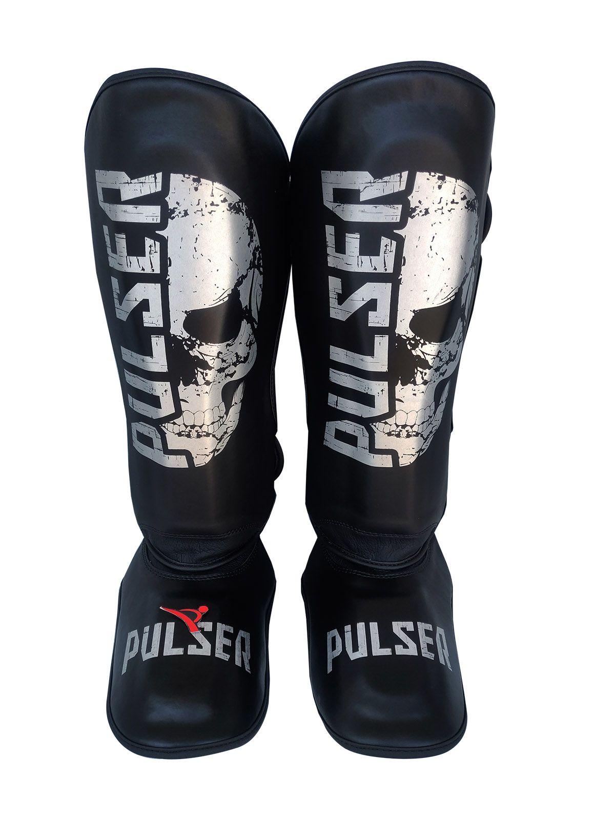 Caneleira Muay Thai MMA Caveira New Média 30mm - Pulser  - PRALUTA SHOP