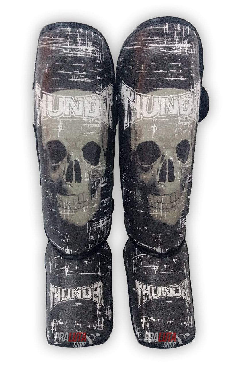 Caneleira Muay Thai MMA Caveira Grande 30mm - Thunder Fight  - PRALUTA SHOP