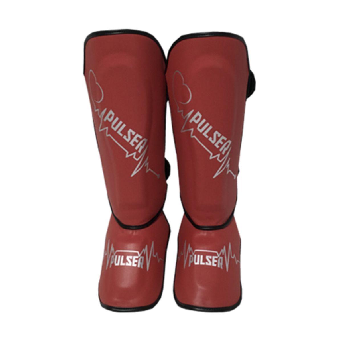 Caneleira Muay Thai MMA Coração Vermelho Média 30mm - Pulser  - PRALUTA SHOP