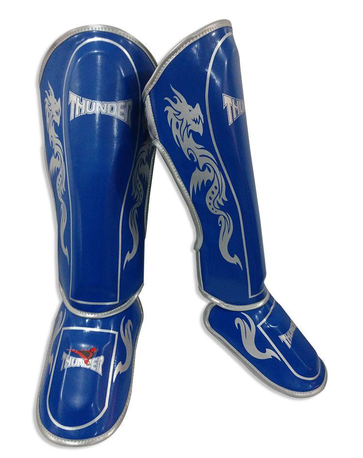 Caneleira Muay Thai MMA Dragão Azul Royal Grande 30mm - Thunder Fight  - PRALUTA SHOP