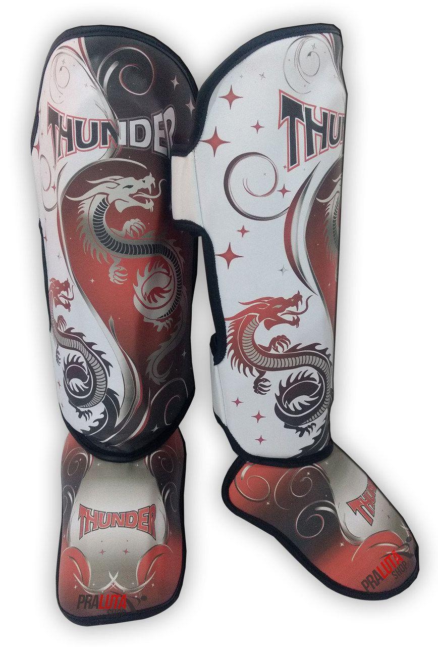 Caneleira Muay Thai MMA Dragão Vermelha New Média 30mm - Thunder Fight  - PRALUTA SHOP