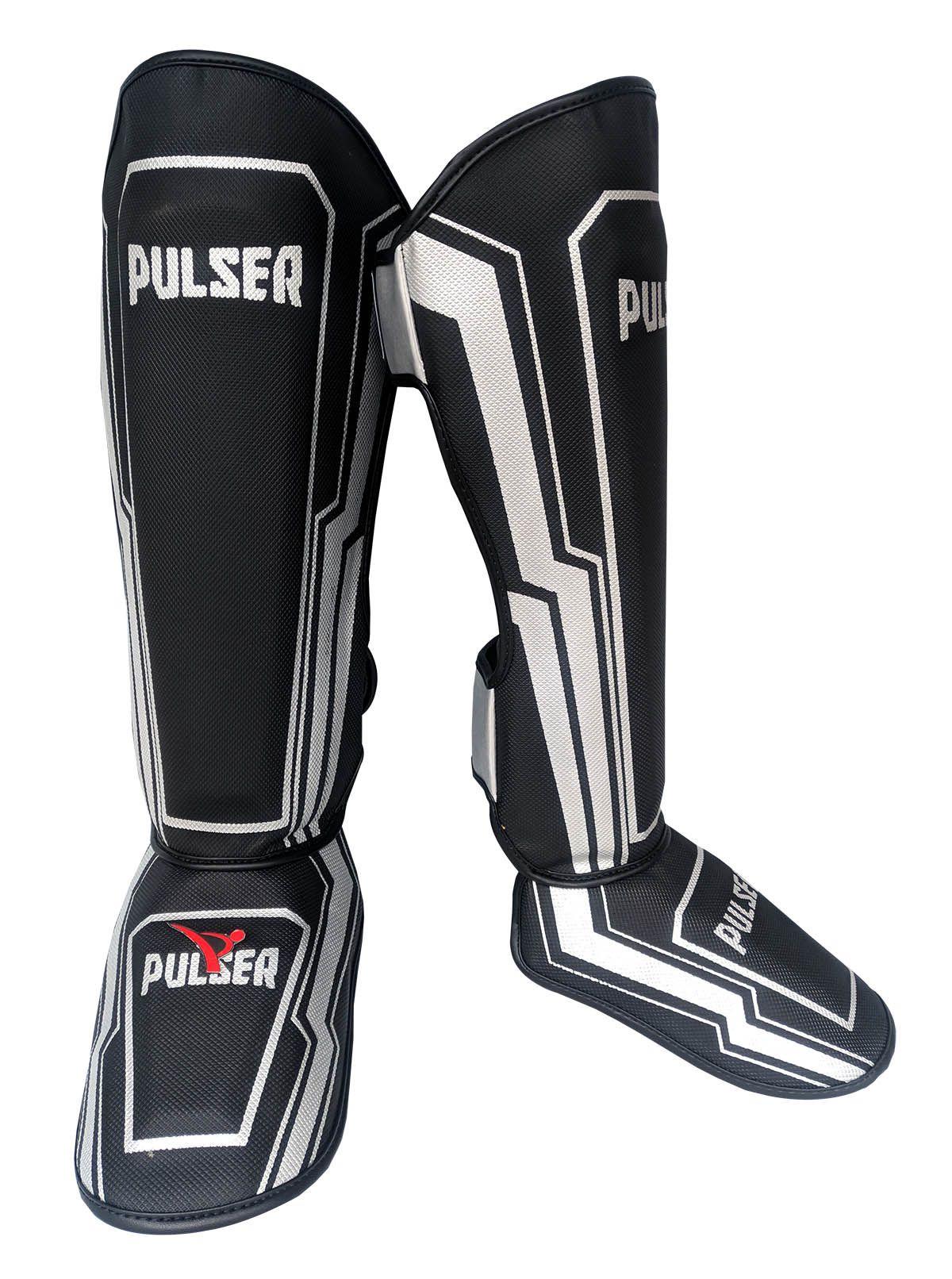 Caneleira Muay Thai MMA Preto Iron Grande 30mm - Pulser  - PRALUTA SHOP