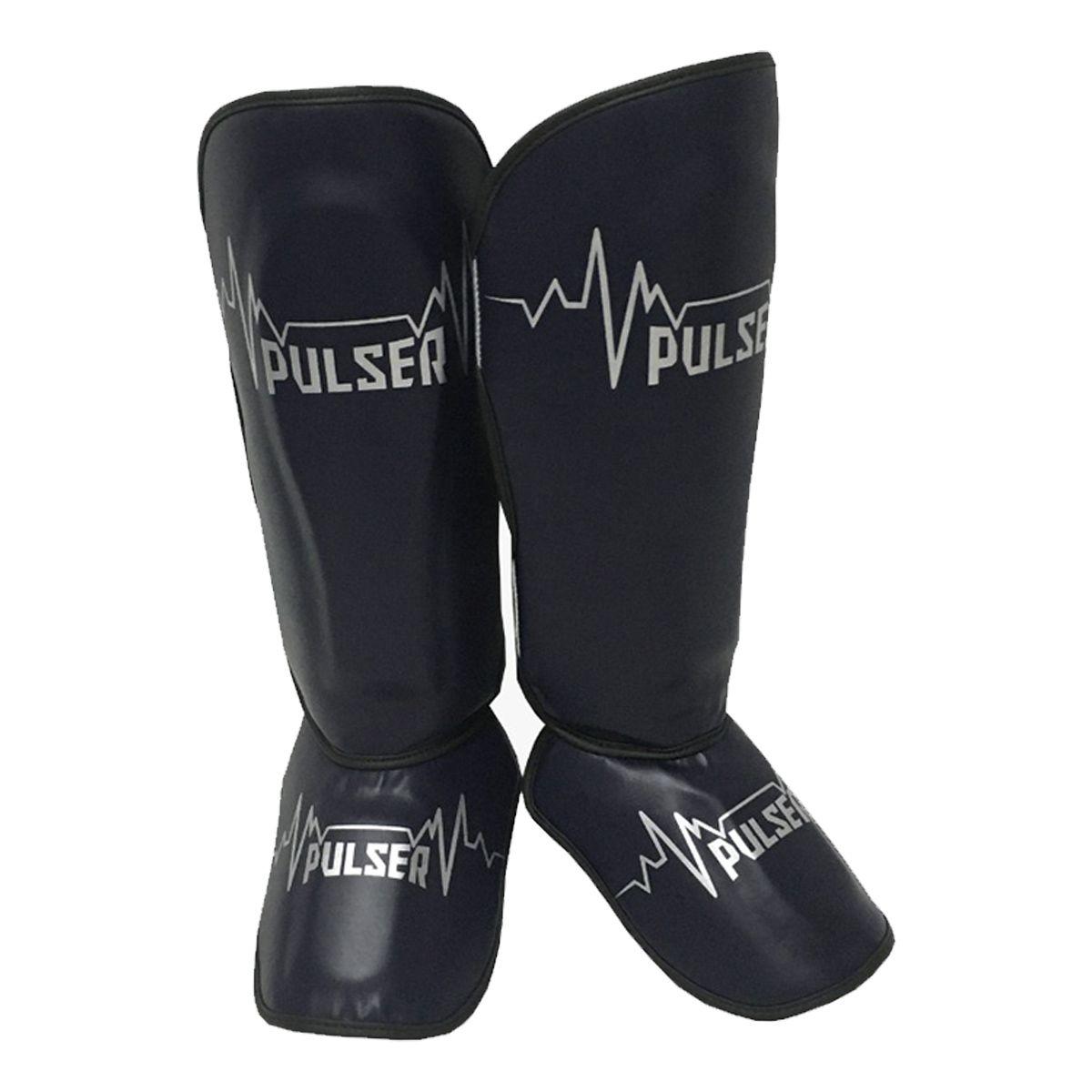 Caneleira Muay Thai MMA Pulsar Azul Escuro Média 30mm - Pulser  - PRALUTA SHOP