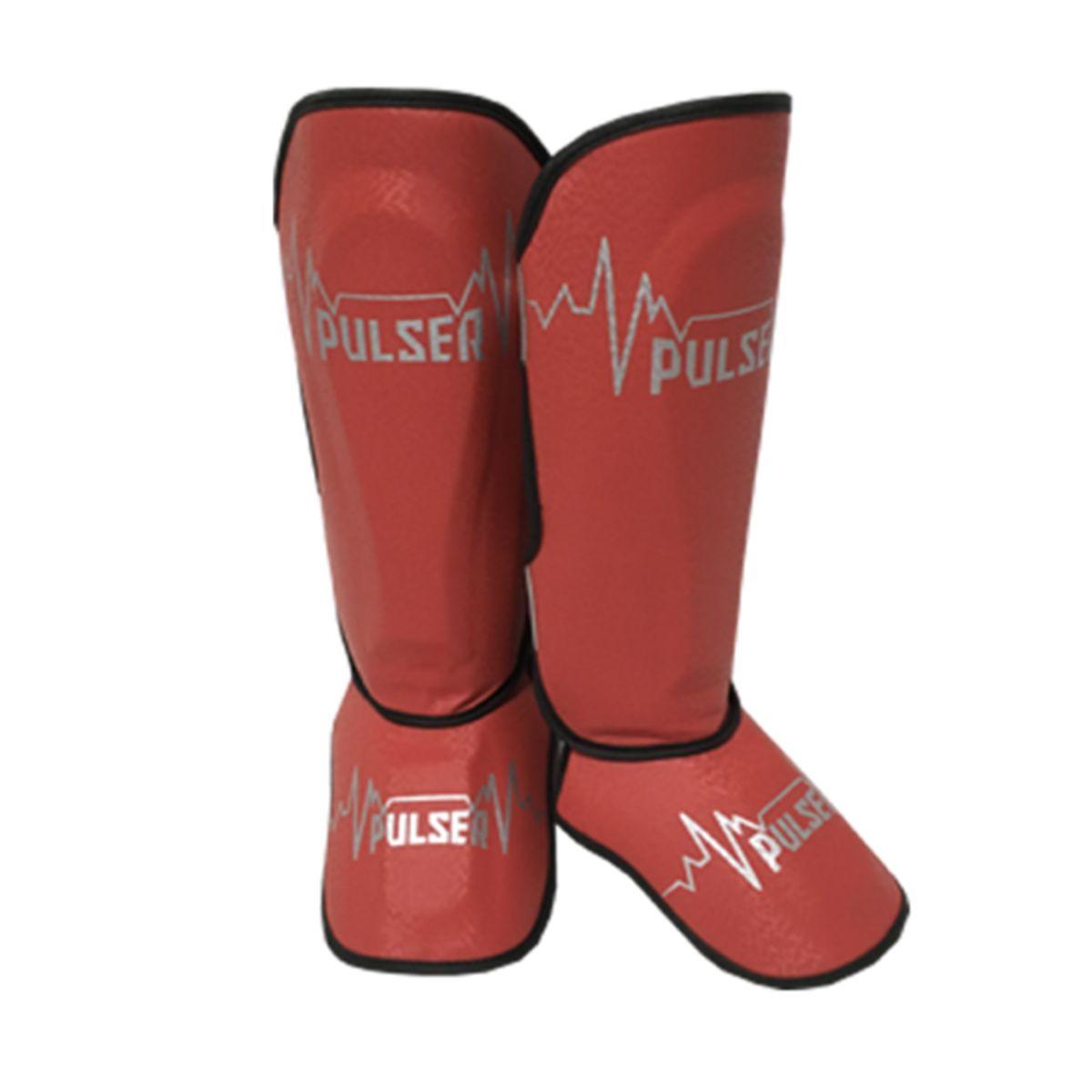 Caneleira Muay Thai MMA Pulsar Vermelho Média 30mm - Pulser  - PRALUTA SHOP