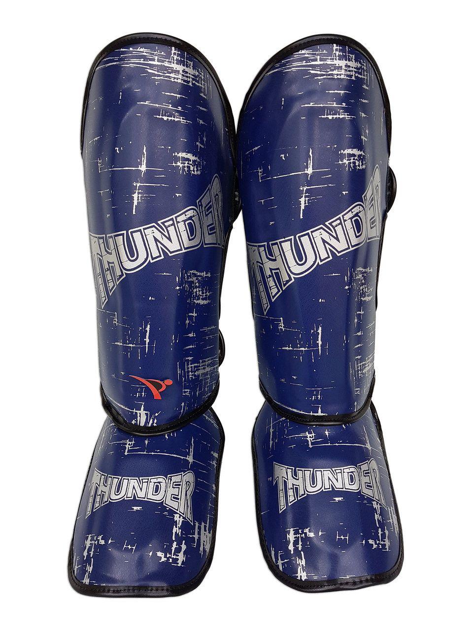 Caneleira Muay Thai MMA Riscado Azul Média 30mm - Thunder Fight  - PRALUTA SHOP