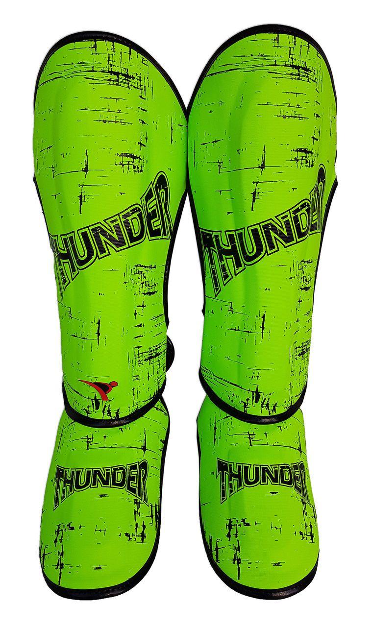 Caneleira Muay Thai MMA Riscado Verde Limão Grande - 30mm Thunder Fight  - PRALUTA SHOP