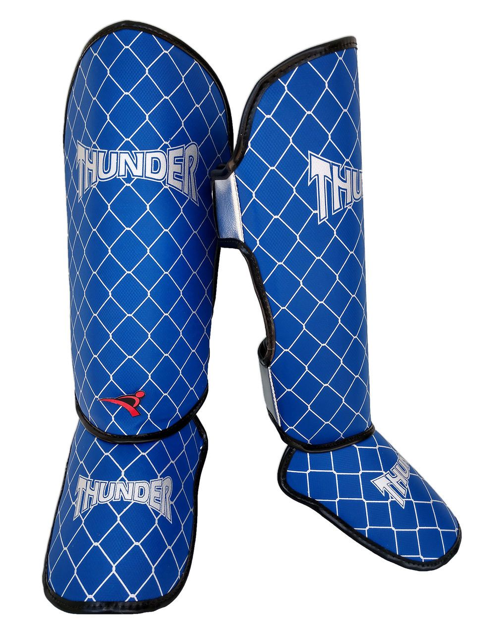 Caneleira Tradicional Muay Thai MMA Azul 20mm - Thunder Fight  - PRALUTA SHOP