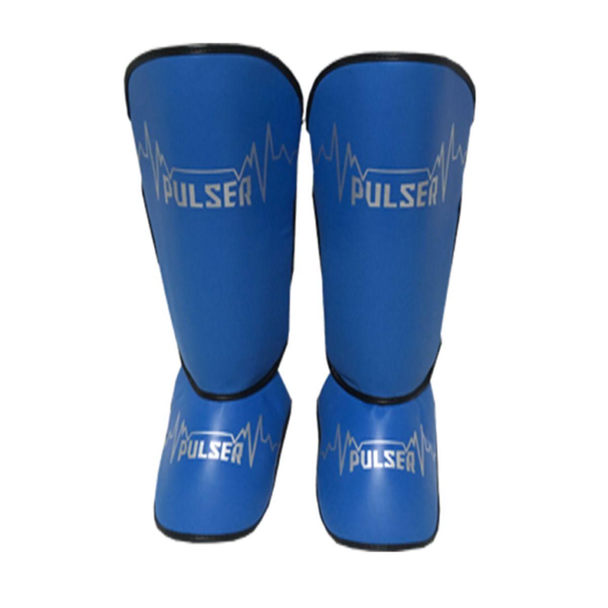 Caneleira Tradicional Muay Thai MMA Azul Claro 20mm - Pulser  - PRALUTA SHOP