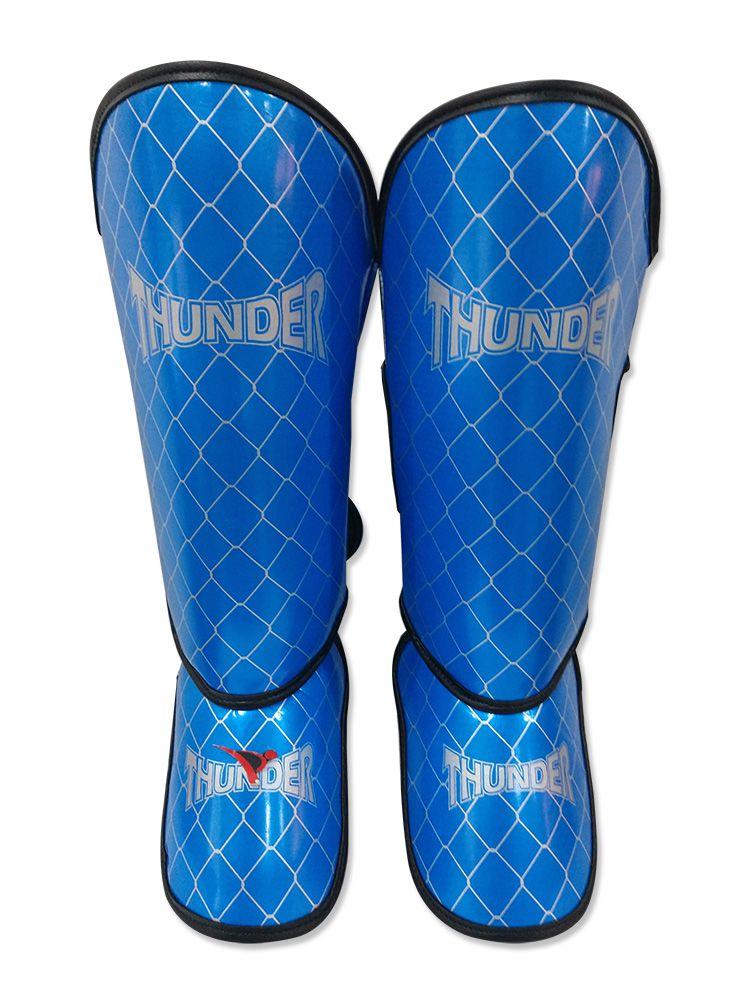 Caneleira Tradicional Muay Thai MMA Azul Claro 20mm - Thunder Fight  - PRALUTA SHOP