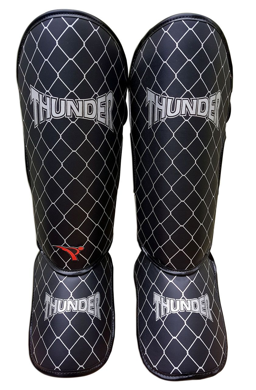 Caneleira Tradicional Muay Thai MMA Preta 20mm - Thunder Fight  - PRALUTA SHOP