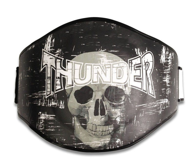 Cinturão para Muay Thai / Boxe Preto Caveira - Thunder Fight  - PRALUTA SHOP