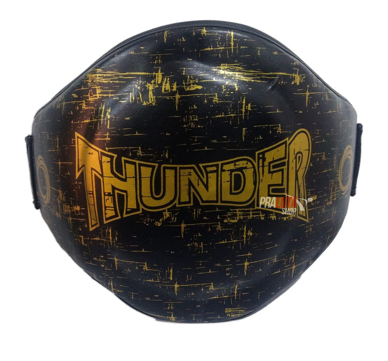Cinturão para Muay Thai / Boxe Preto com Dourado - Thunder Fight  - PRALUTA SHOP