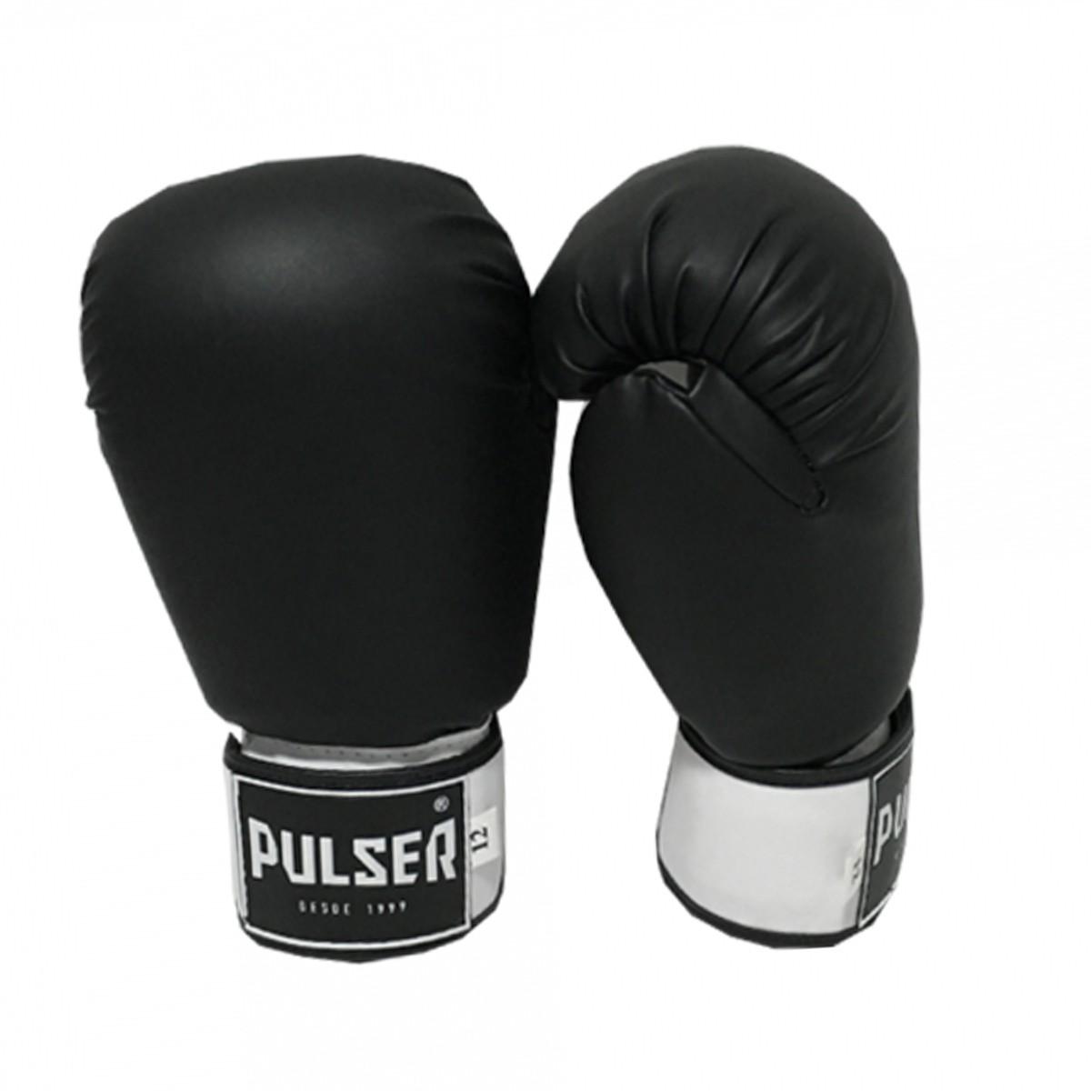 Luva de Boxe / Muay Thai 16oz - Preto - Pulser  - PRALUTA SHOP