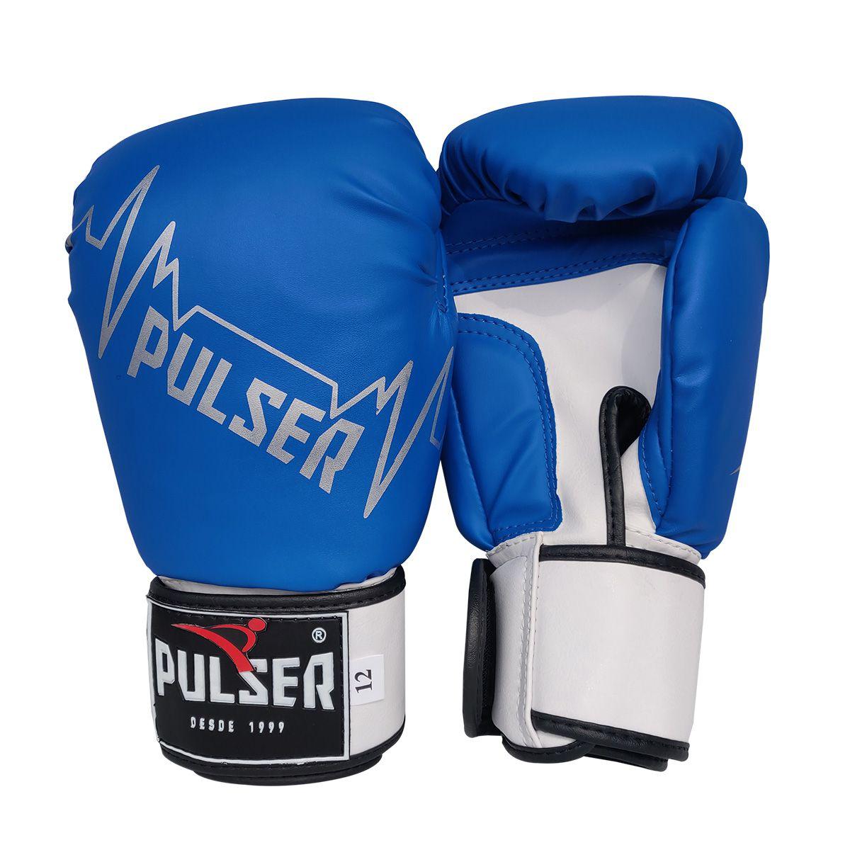 Kit de Boxe / Muay Thai 12oz - Azul Pulser - Pulser  - PRALUTA SHOP