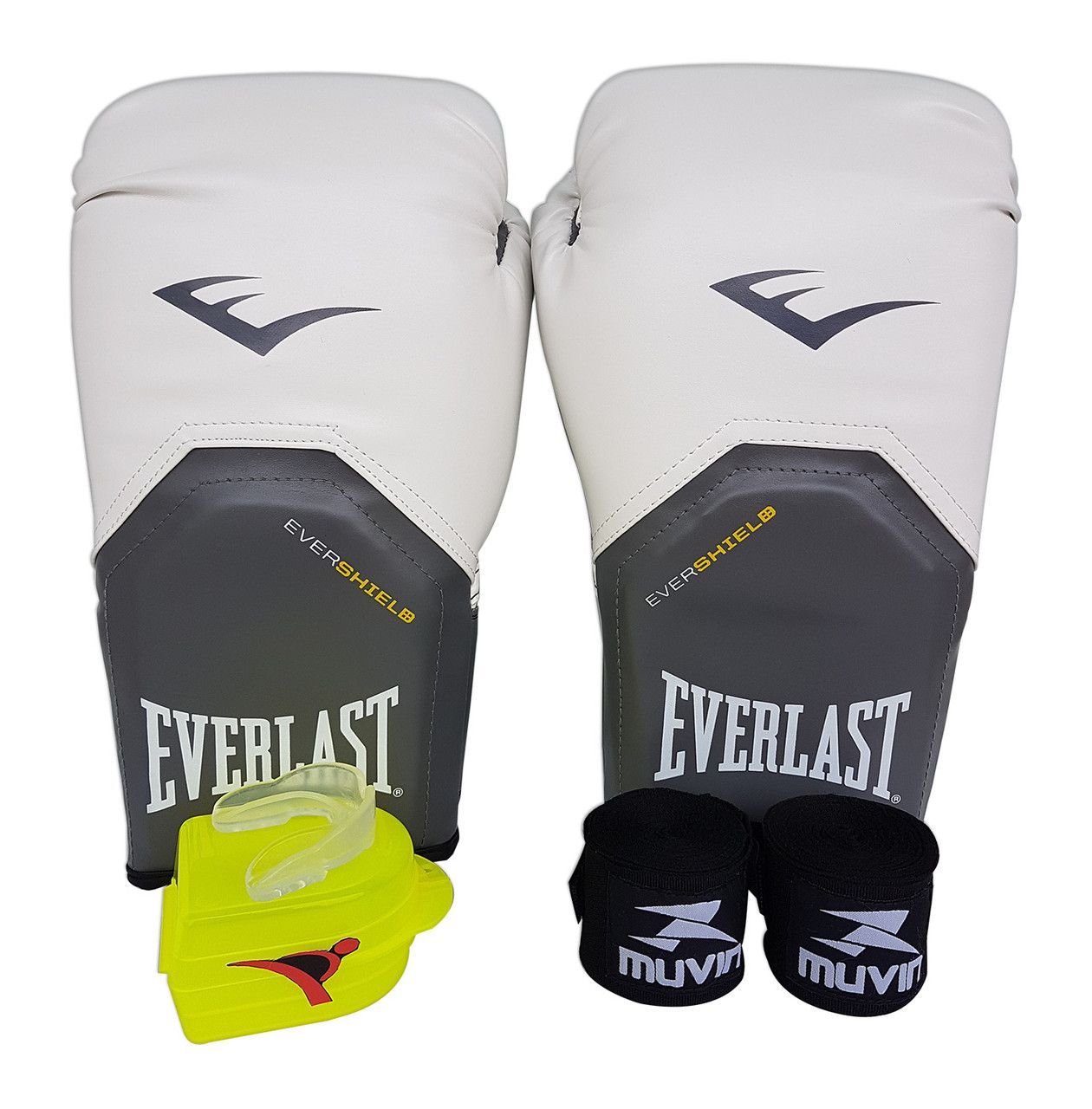 Kit de Boxe   Muay Thai 12oz - Branco - Pro Style - Everlast - PRALUTA ... 421bdd0d58d88