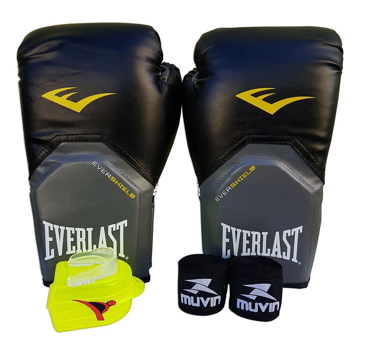 6a257b757 Kit de Boxe   Muay Thai 12oz - Preto - Pro Style - Everlast - PRALUTA ...