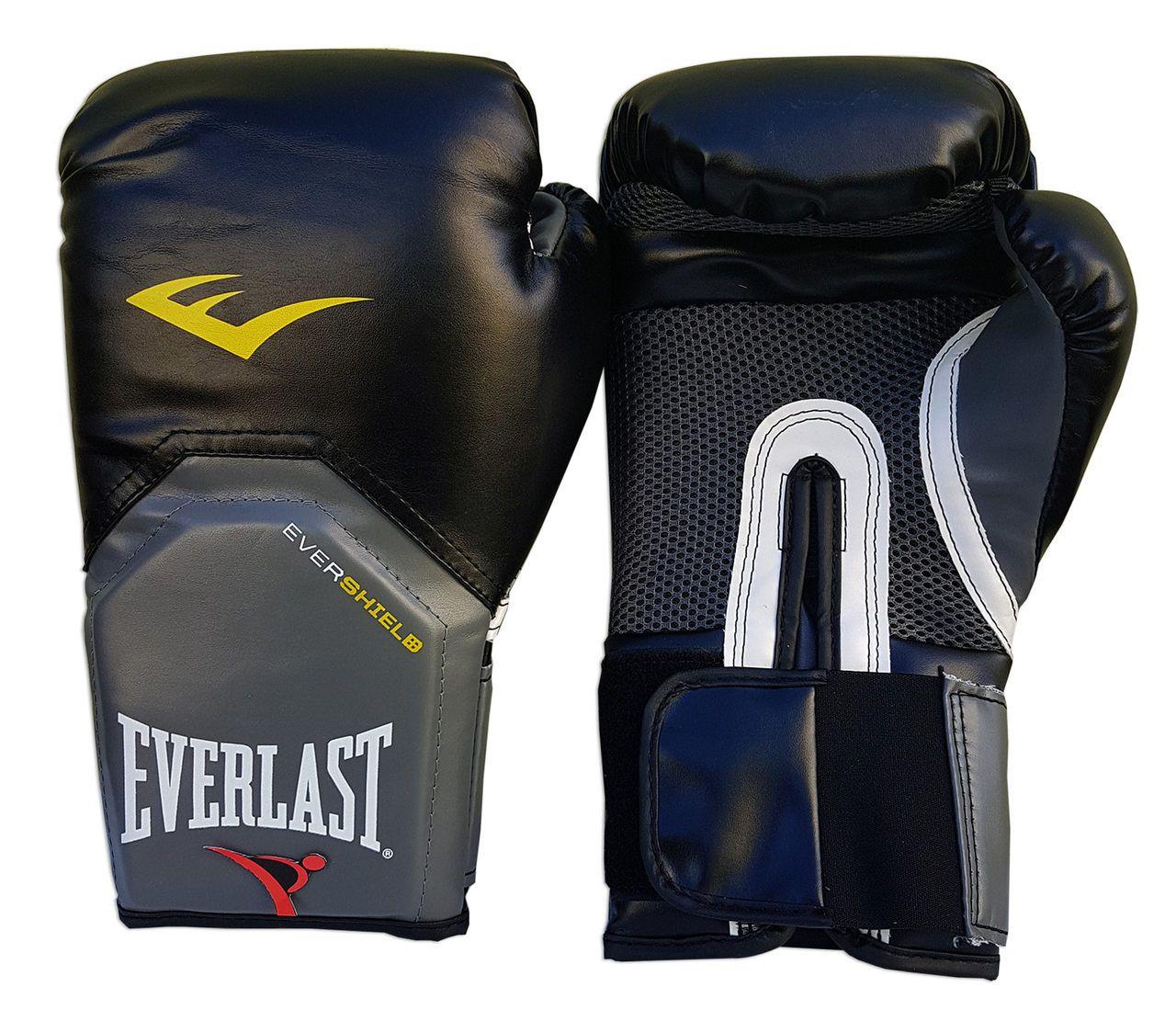Kit de Boxe / Muay Thai 12oz - Preto - Pro Style - Everlast  - PRALUTA SHOP