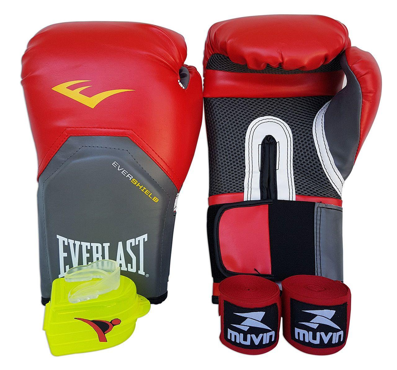 Kit de Boxe / Muay Thai 12oz - Vermelho - Pro Style - Everlast  - PRALUTA SHOP