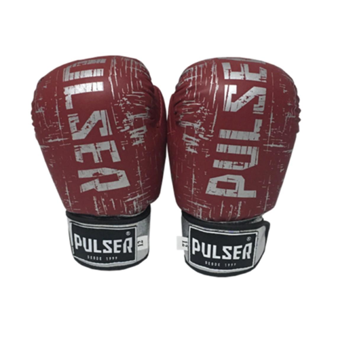 Kit de Boxe / Muay Thai 12oz - Vermelho Riscado - Pulser  - PRALUTA SHOP