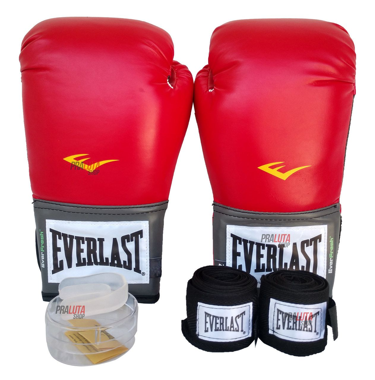 Kit de Boxe / Muay Thai 12oz - Vermelho - Training - Everlast - PRALUTA SHOP