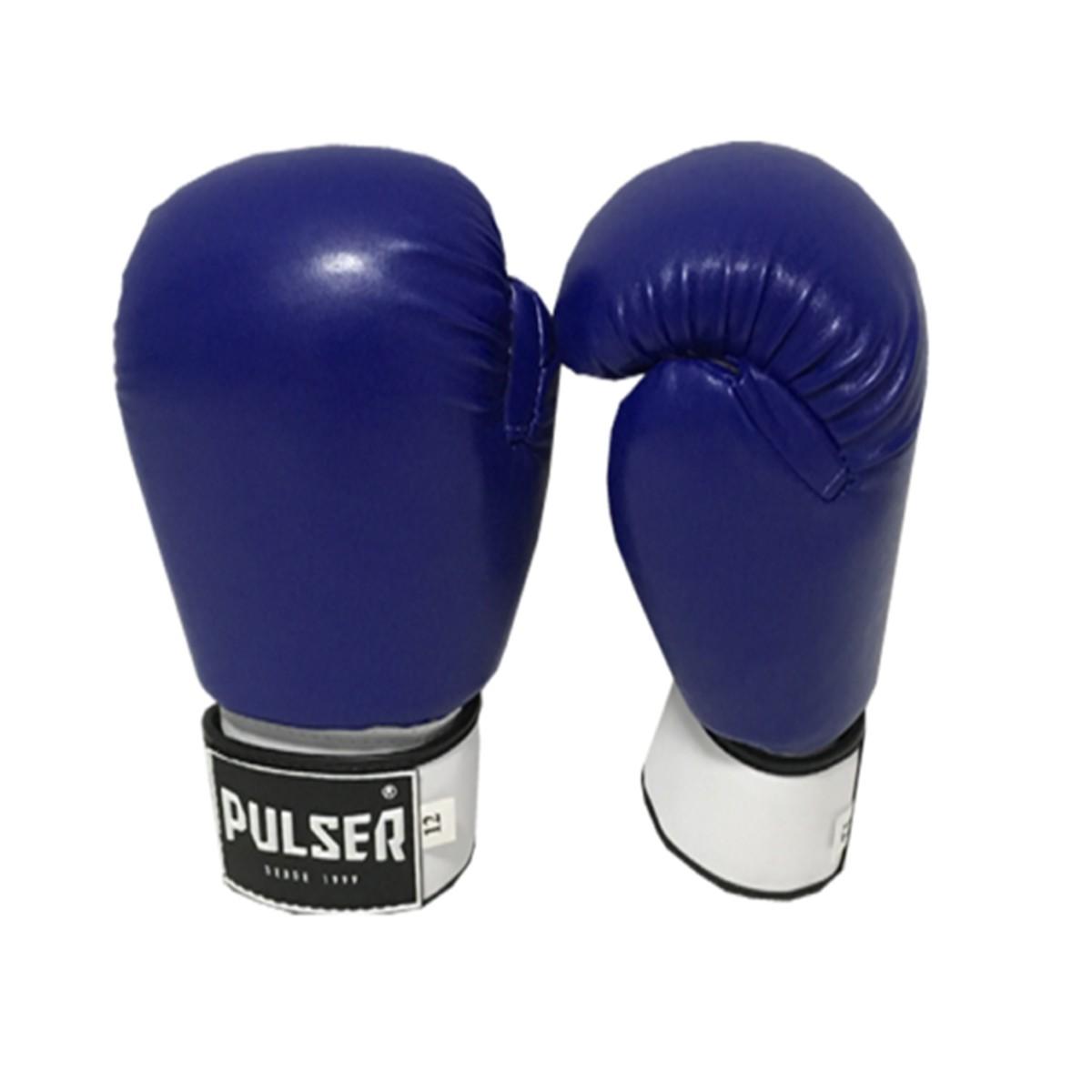 Kit de Boxe / Muay Thai 14oz - Azul - Pulser  - PRALUTA SHOP