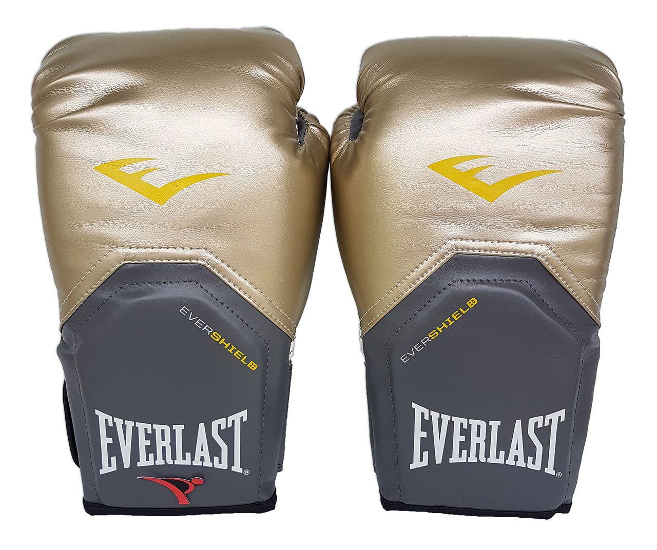 Kit de Boxe / Muay Thai 14oz - Dourado - Pro Style - Everlast  - PRALUTA SHOP