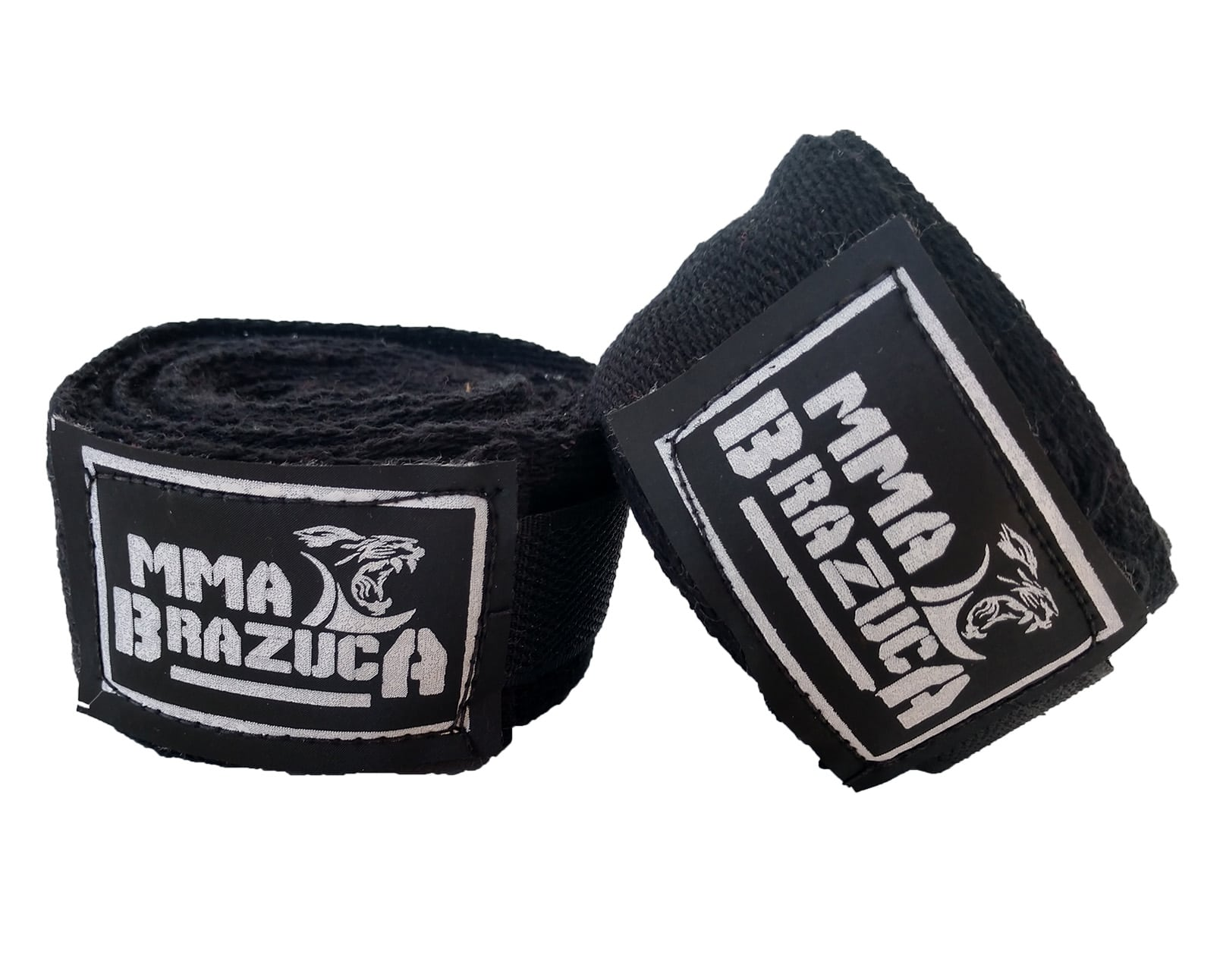 Kit de Boxe / Muay Thai 14oz - Preto com Branco - MMA Brazuka  - PRALUTA SHOP