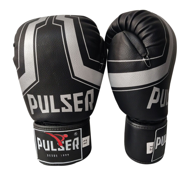 Kit de Boxe / Muay Thai 14oz - Preto Iron - Pulser  - PRALUTA SHOP