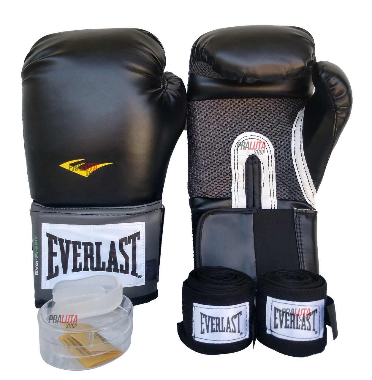 Kit de Boxe / Muay Thai 14oz - Preto - Training - Everlast  - PRALUTA SHOP