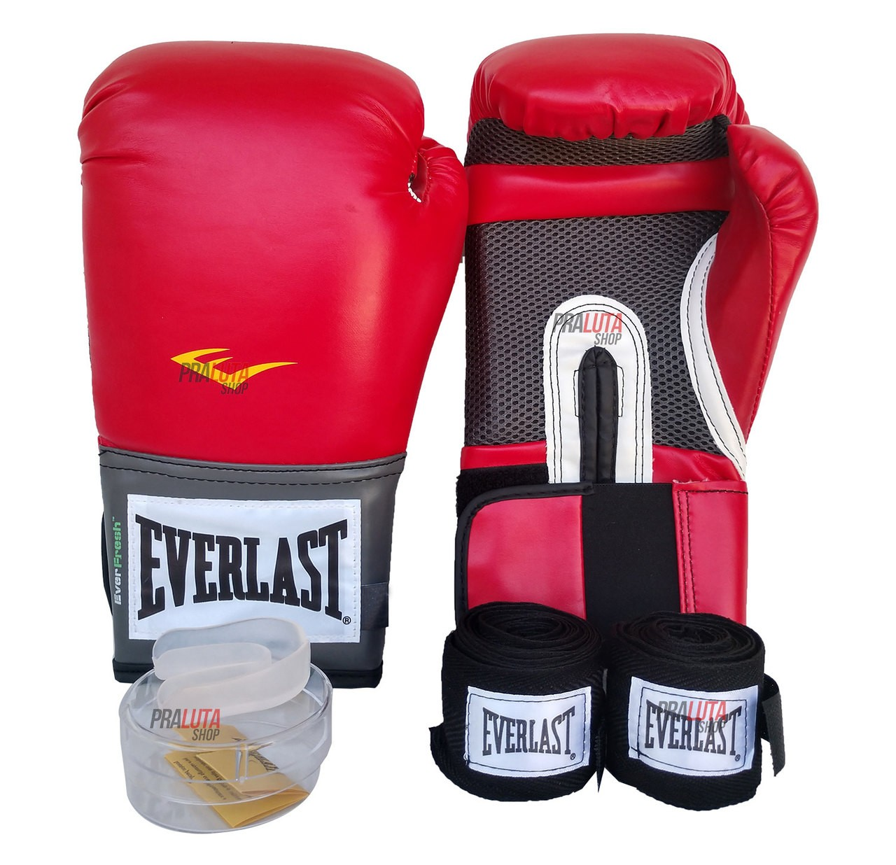 Kit de Boxe / Muay Thai 14oz - Vermelho - Training - Everlast  - PRALUTA SHOP