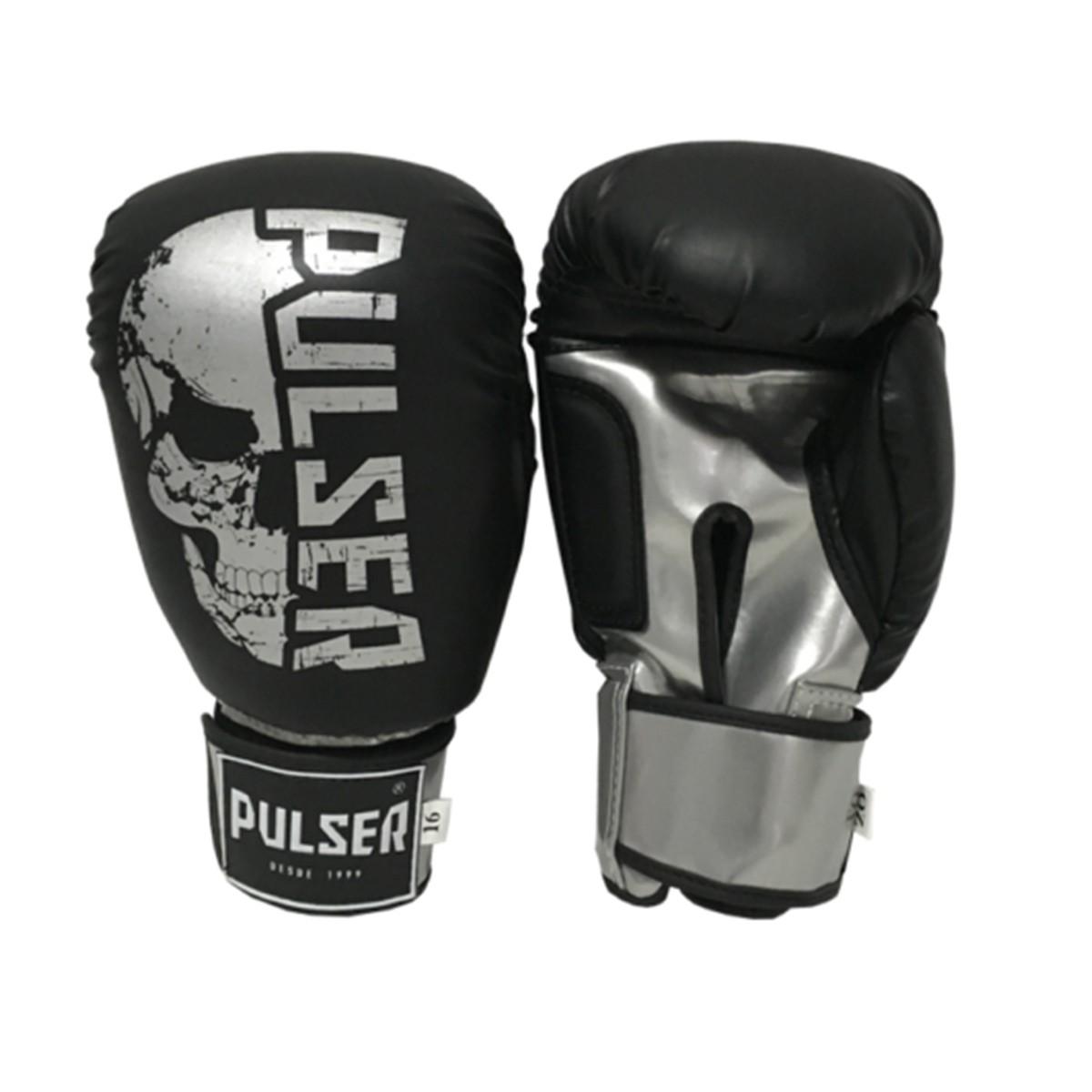 Kit de Boxe / Muay Thai 16oz - Preto Caveira - Pulser  - PRALUTA SHOP