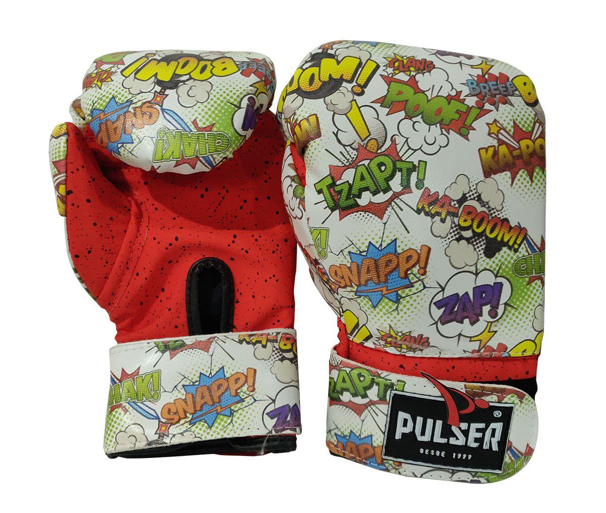 Kit de Boxe / Muay Thai 6oz Infantil - Comic - Pulser  - PRALUTA SHOP