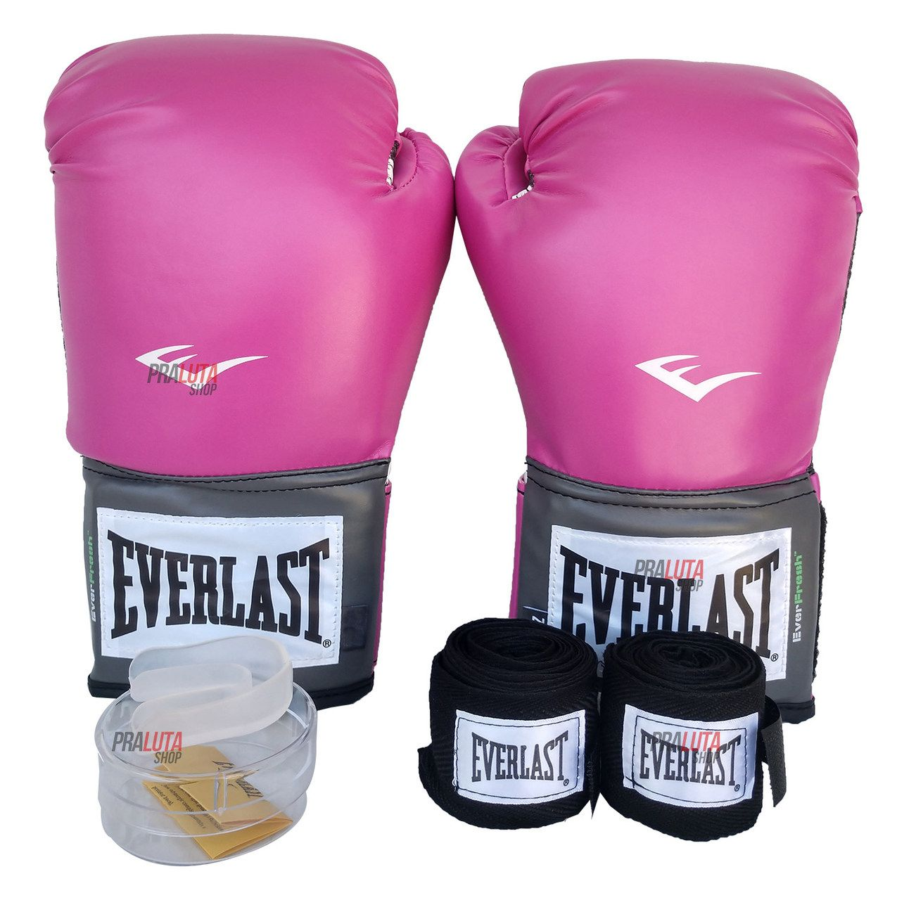 Kit de Boxe / Muay Thai Feminino 12oz - Rosa - Training - Everlast  - PRALUTA SHOP