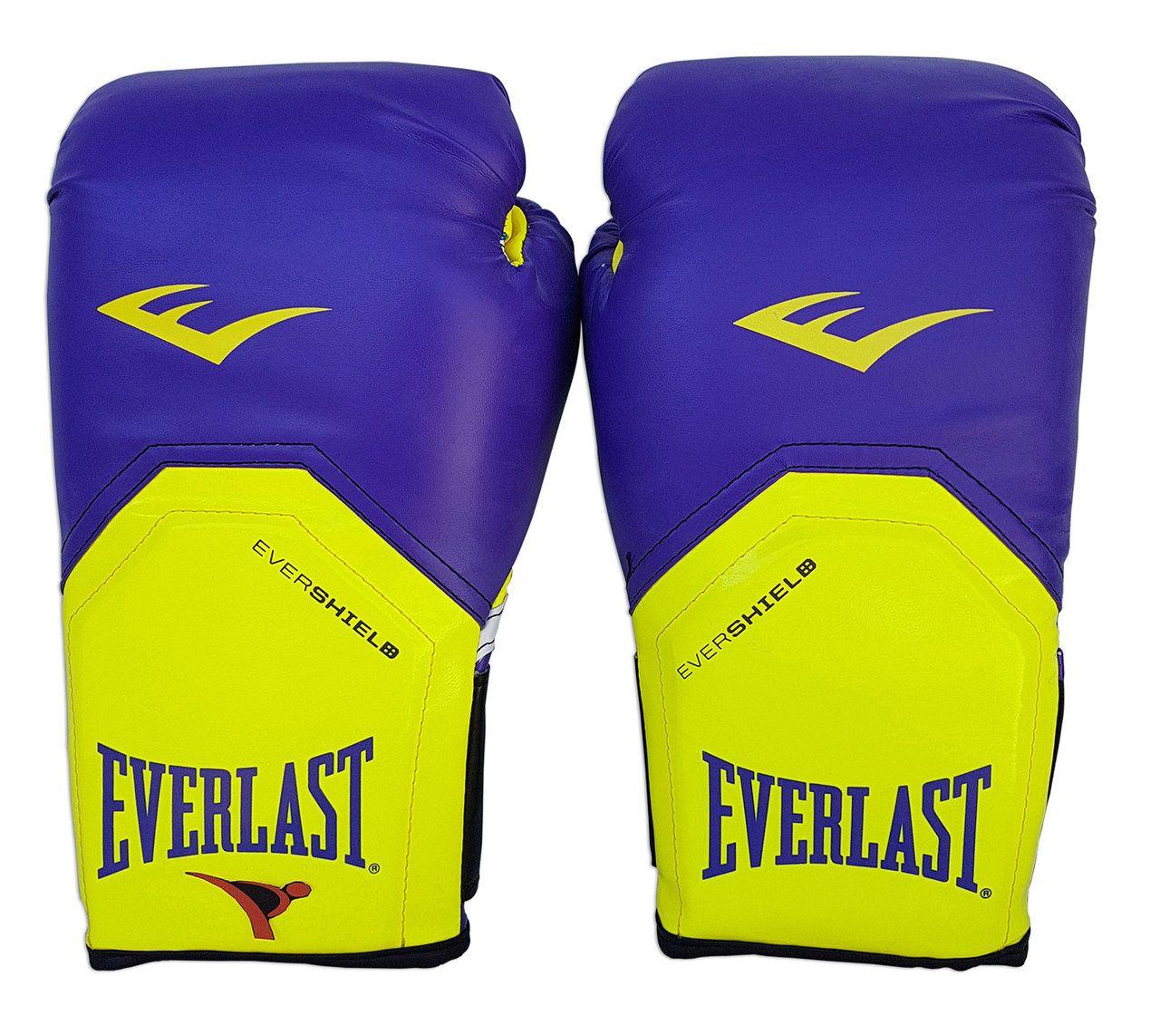 Kit de Boxe / Muay Thai Feminino 12oz - Roxo com Amarelo - Pro Style - Everlast  - PRALUTA SHOP