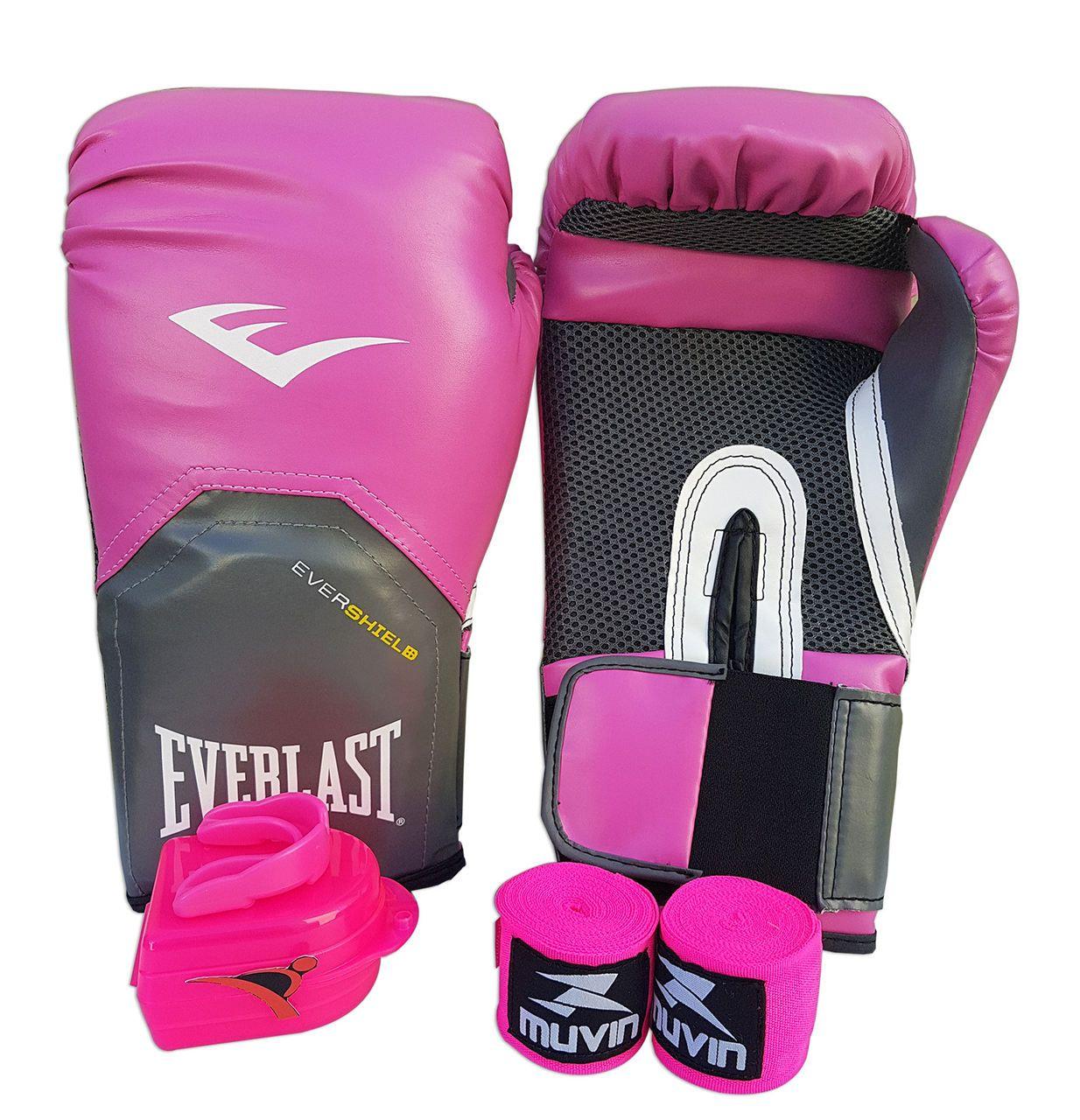 Kit de Boxe / Muay Thai Feminino 08oz - Rosa - Pro Style - Everlast  - PRALUTA SHOP