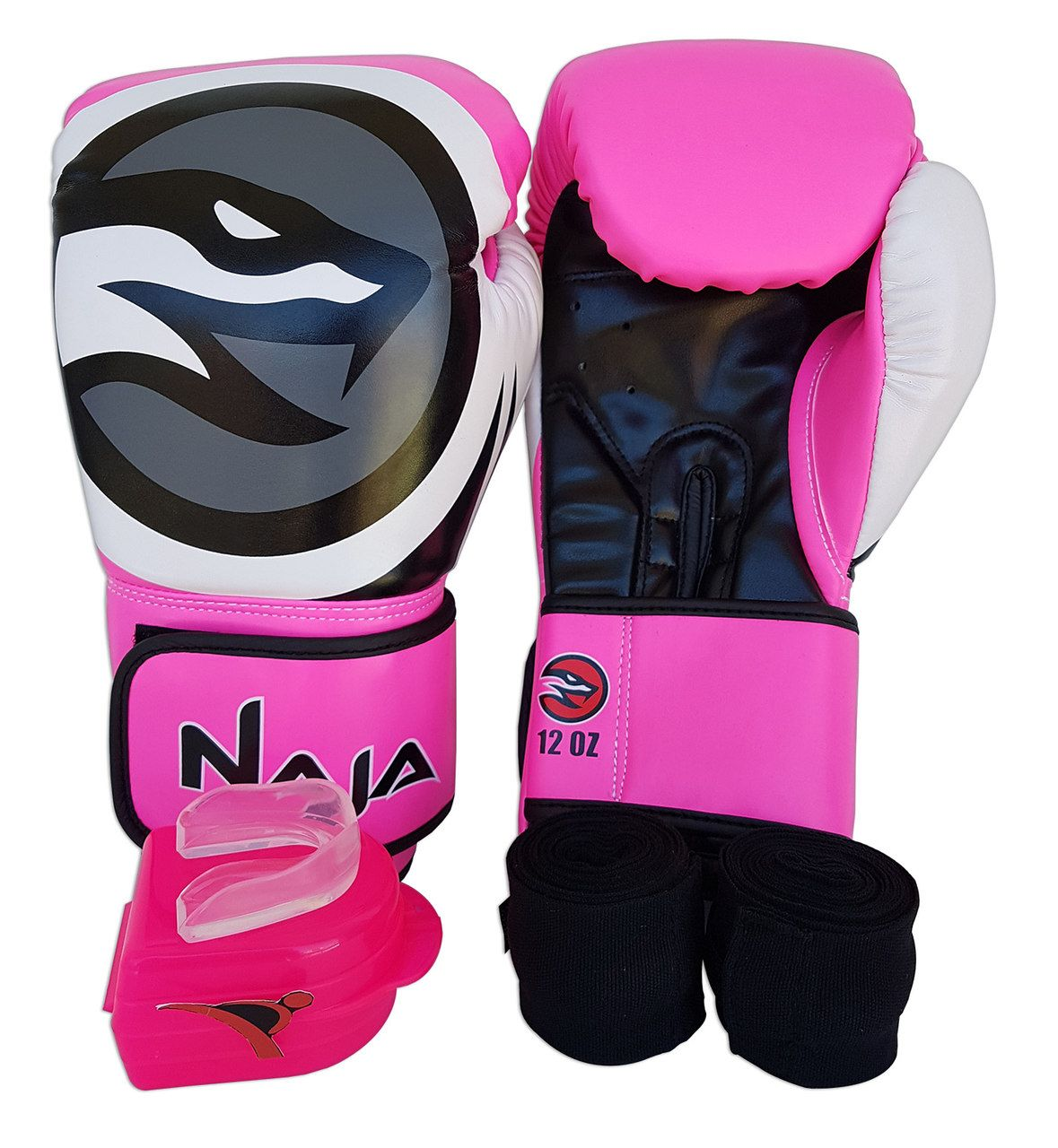 Kit De Boxe / Muay Thai Feminino 12oz - Pink - Colors - Naja  - PRALUTA SHOP