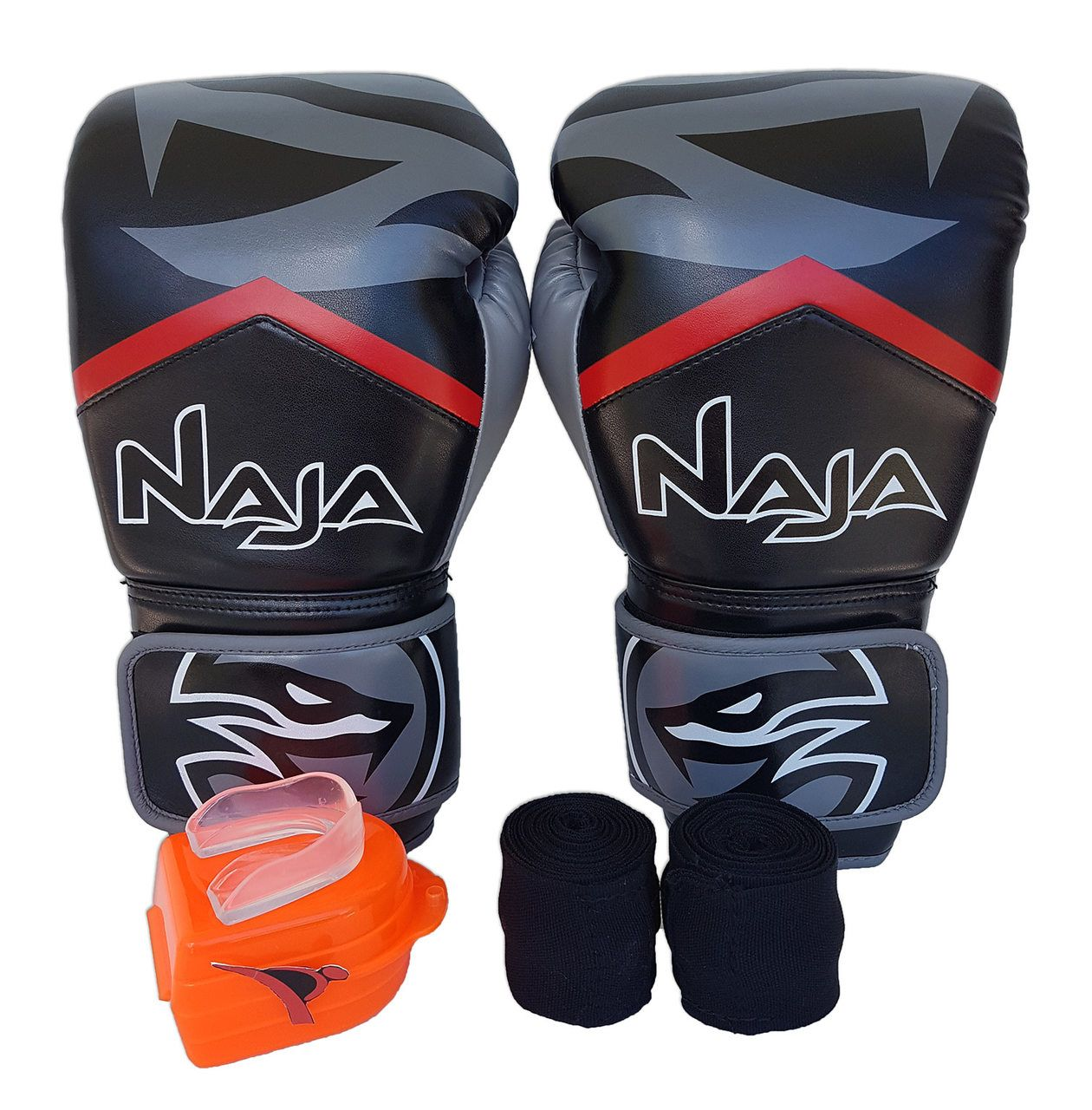 Kit De Boxe / Muay Thai 12oz - Preto - New Extreme - Naja - PRALUTA SHOP